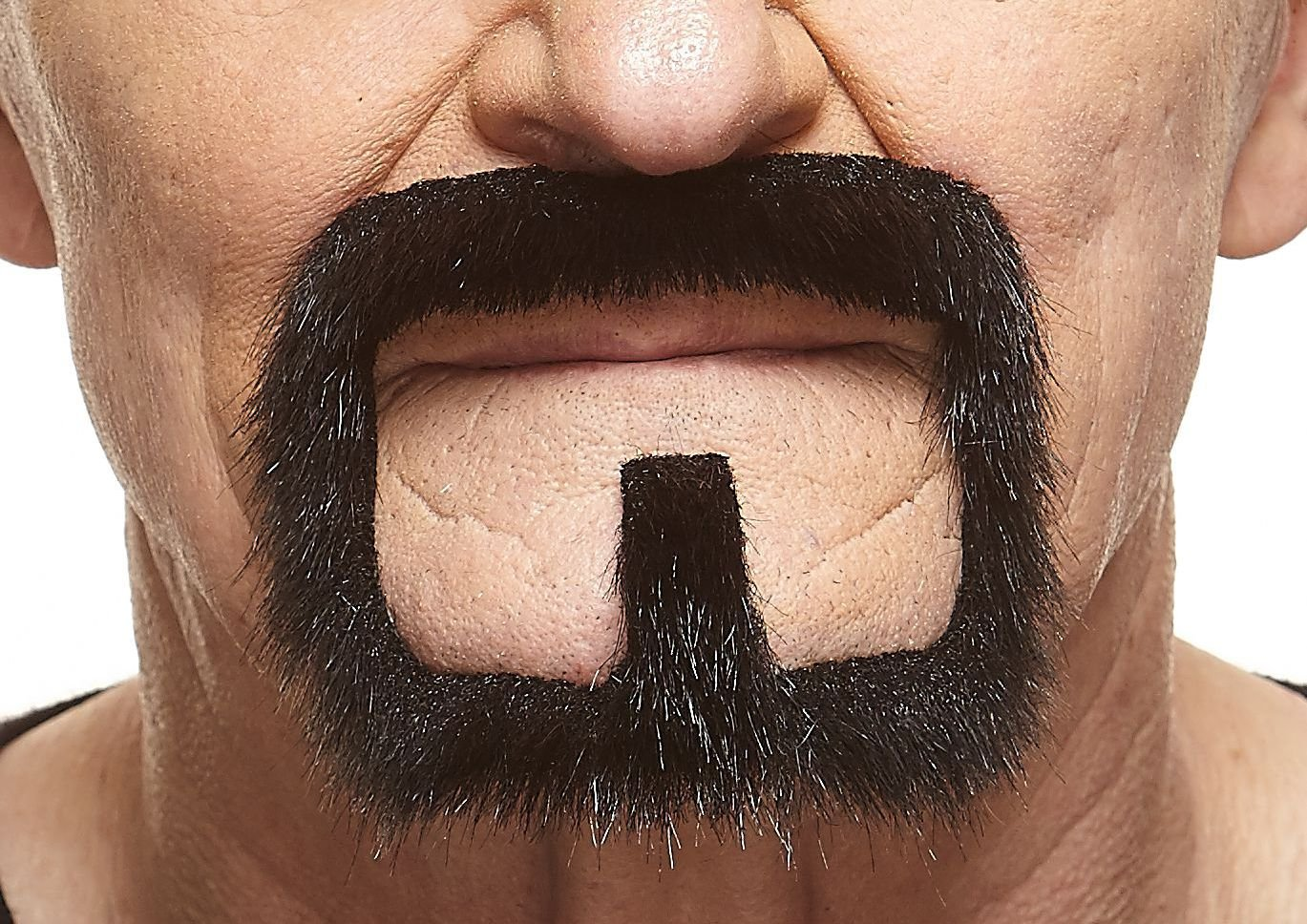 Mustaches Self Adhesive, Novelty, Fake Van Dyke Beard, Black Lustrous Color