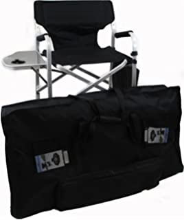 World Outdoor Products Lightweight PROFESSIONAL Tall Directors Chair With  Side Table, CUSTOM ZIPPERED STORAGE CARRY
