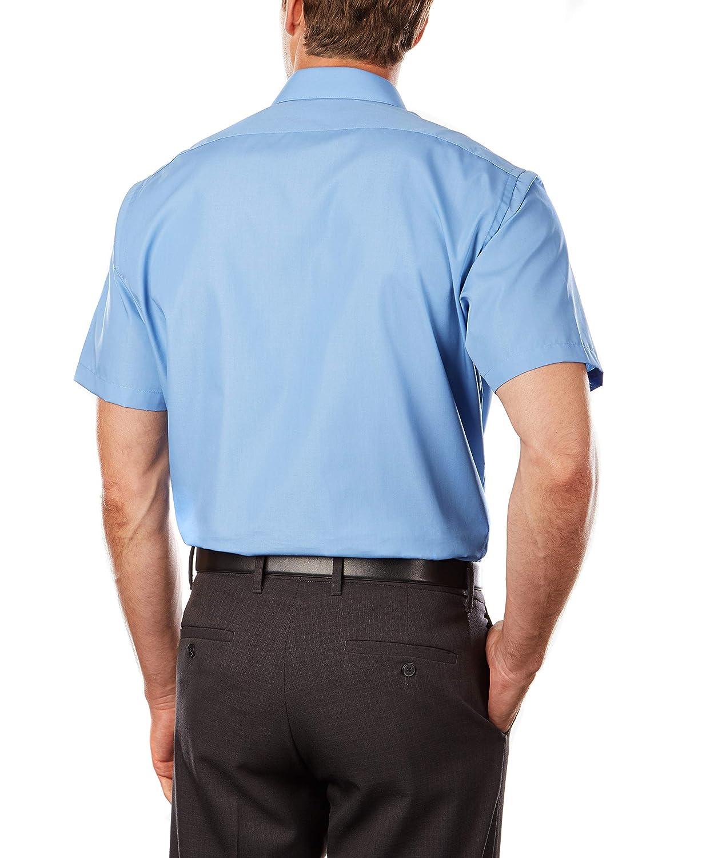 Van Heusen Mens Short Sleeve Poplin Solid Dress Shirt At Amazon