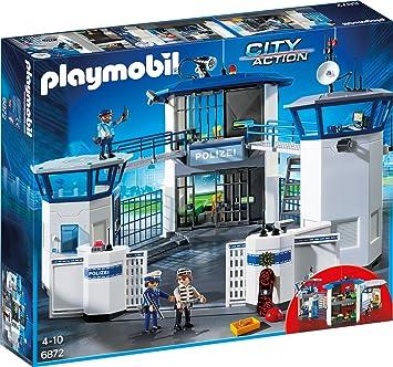 Playmobil 6872 Polizei Kommandozentrale Mit Gefängnis Amazon De