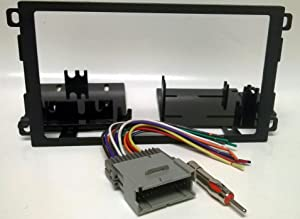 Dash kit and wire harness for installing a new Double Din Radio into a Chevy Chevrolet Blazer (2002-2004 replacing oversized factory radio), Express Van (2001-02), S10 pickup (2002-04 when replacing Oversized factory radio), Tracker (2000-04), GMC Savana Van (2001-02), Hummer H1 (2003-06), Pontiac Vibe (2003-08), Toyota Matrix (2003-04)