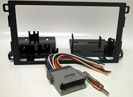 Dash kit and wire harness for installing a new Double Din Radio into  S Wiring Harness on
