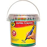 Crayola My First Jumbo Crayons, 24 pack with storage tub, 2 years +, Designed for little hands, Creative Play, Perfect for Junior Artists and Preschool