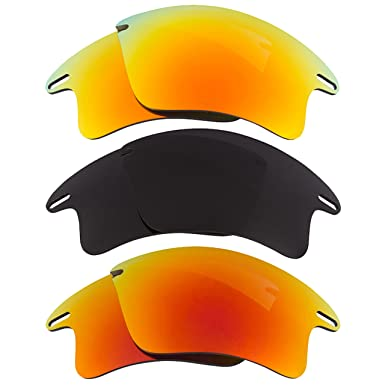 12770a0f647 Image Unavailable. Image not available for. Color  Fast Jacket XL  Replacement Lenses Polarized Yellow Red Black by SEEK fits OAKLEY