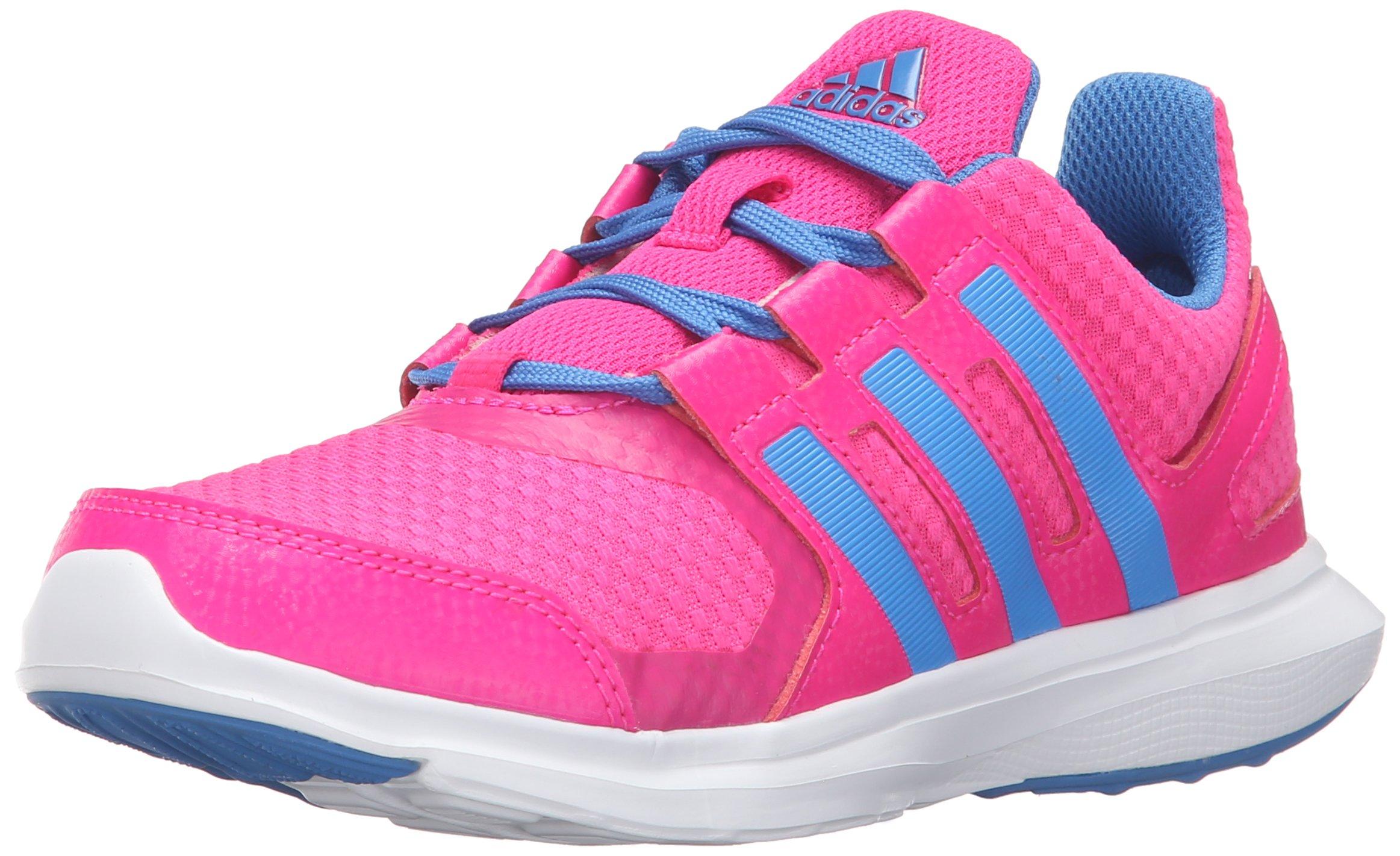 338f2643de adidas Girls' Hyperfast 2.0 k Running Shoe, Shock Pink/Ray Blue/White, 5.5  M US Big Kid