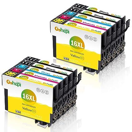 Gohepi 16 XL Alta Capacidad Cartuchos de tinta,10 Multipack ...