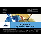 Canson Montval Watercolor Block, Cold Press Acid Free French Paper, 140 Pound, 4 x 6 Inch, 15 Sheets