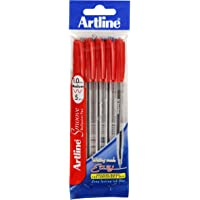Artline, SM1821072, Smoove Ballpoint Pen, 1mm, Red, 5 Pack