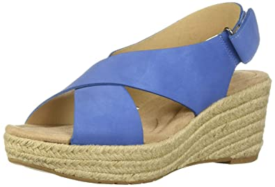 abc07e39b3 CL by Chinese Laundry Women s Dream Too Wedge Sandal Denim Nubuck 5.5 ...