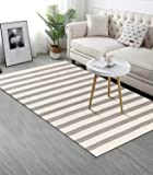Cotton Area Rug 3¡¯ x 5¡¯ LEEVAN Tassel Door Mat Cotton Line Indoor Floor Mat Bohemian Hand Woven Geometric Carpet Chic…