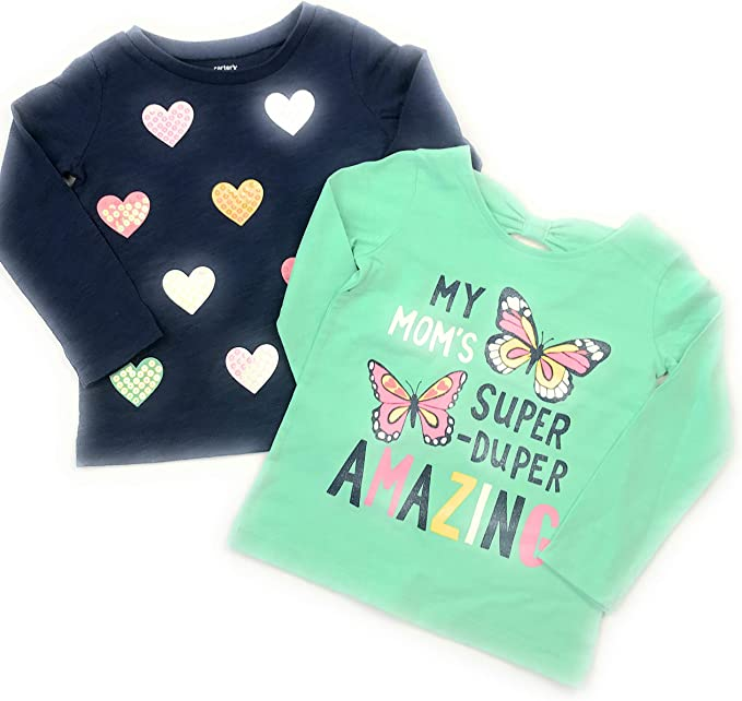 4-5 Aqua//Multi Carters Little Girls Top
