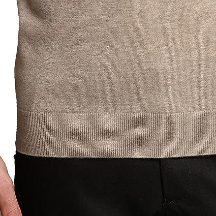 Men`s Denver Hayes V-Neck Merino Wool Blend Jumper Size Large Light Brown