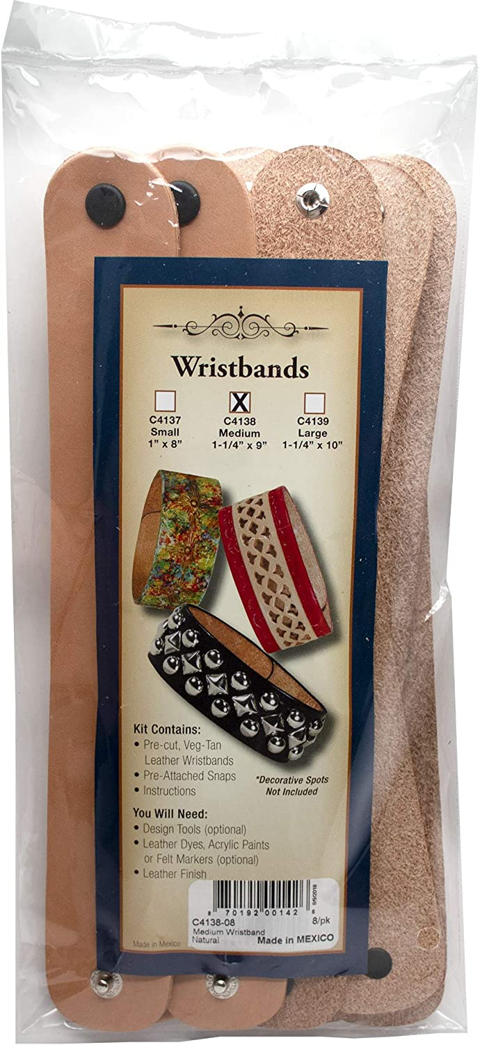 Caramel Flower Tooled Leather Strap Veggie Tanned Leather LeatherStraps Leather Strap or Bracelet  Eco-Friendly Leather Made in the USA