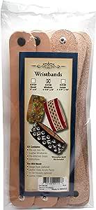 Realeather Medium Natural Veg Tan Leather Bracelet, (Pack of 8)