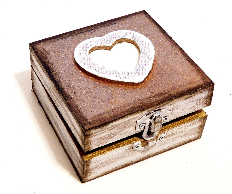 Caja Boda Aniversario Caja del Anillo de Boda Joyero Proposici/ón Anillo Joyero Alianza con Almohada Joyero Anillo Madera Caja Coraz/ón
