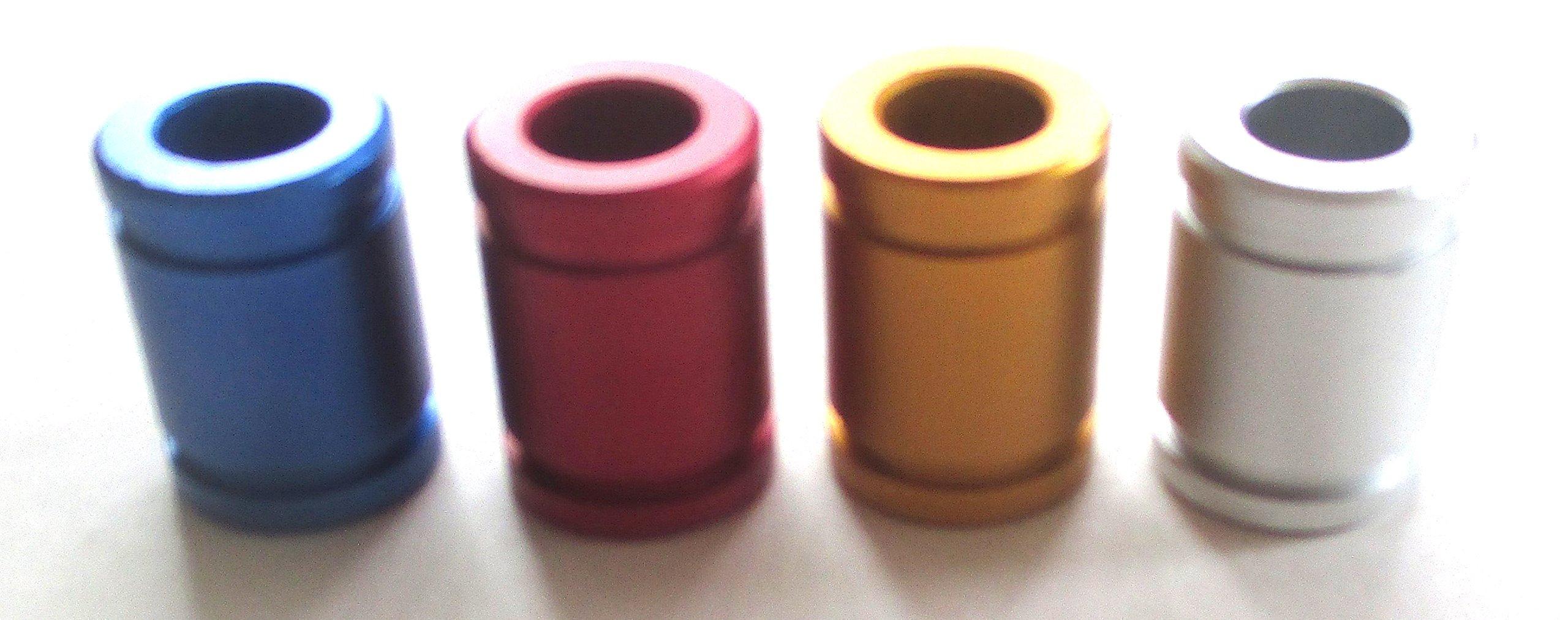 Lot of 4 Aluminum Series Cigarette Snuffers Instant Cigarette Extinguisher