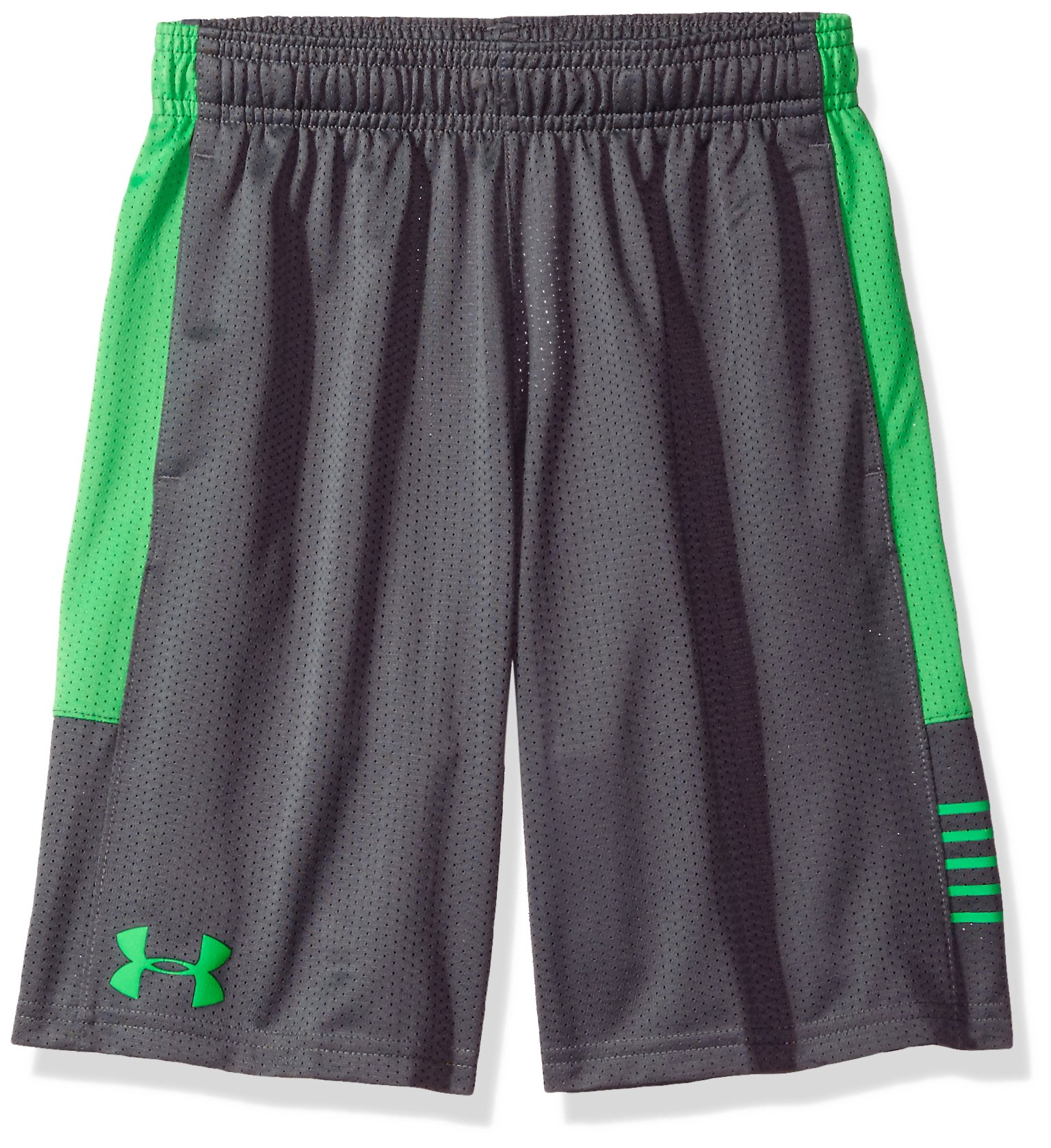 Under Armour Boys' Train To Game Shorts,Graphite (041)/Lime Twist, Youth X-Small