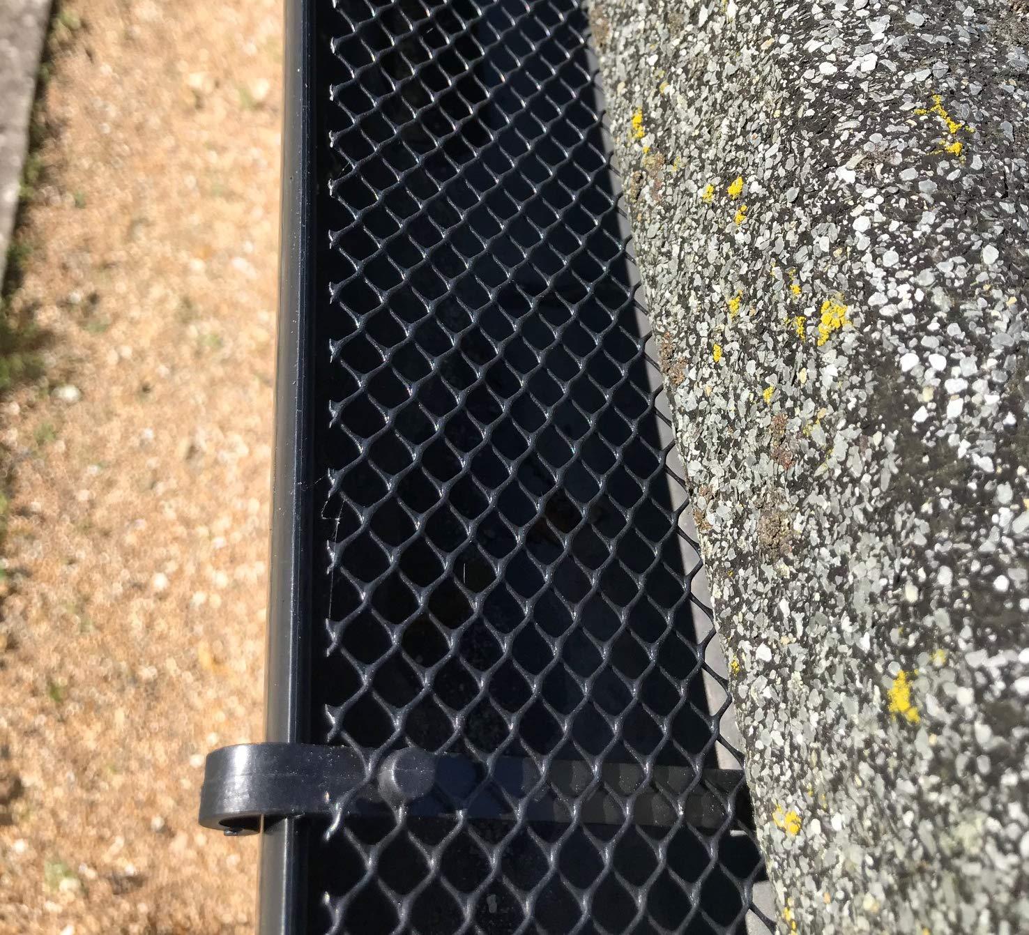 Juego de 2 protectores de malla para canalones con 30 clips de fijaci/ón 12 m x 17,5 cm Selections