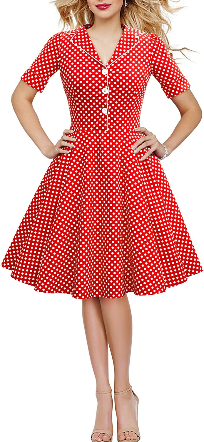 BlackButterfly Bambini Abito Vintage a Pois Anni 50Sabrina