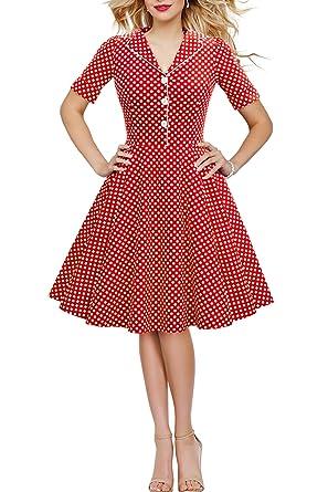 7c54bc330826eb BlackButterfly 'Sabrina' Vintage Polka-Dots Kleid im 50er-J-Stil ...