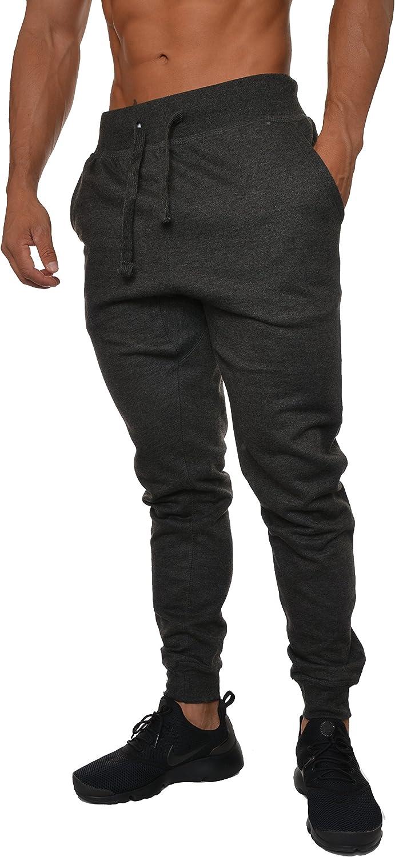 YoungLA Mens Slim Fit Joggers Fitness Sweatpants Gym Training 204: Clothing