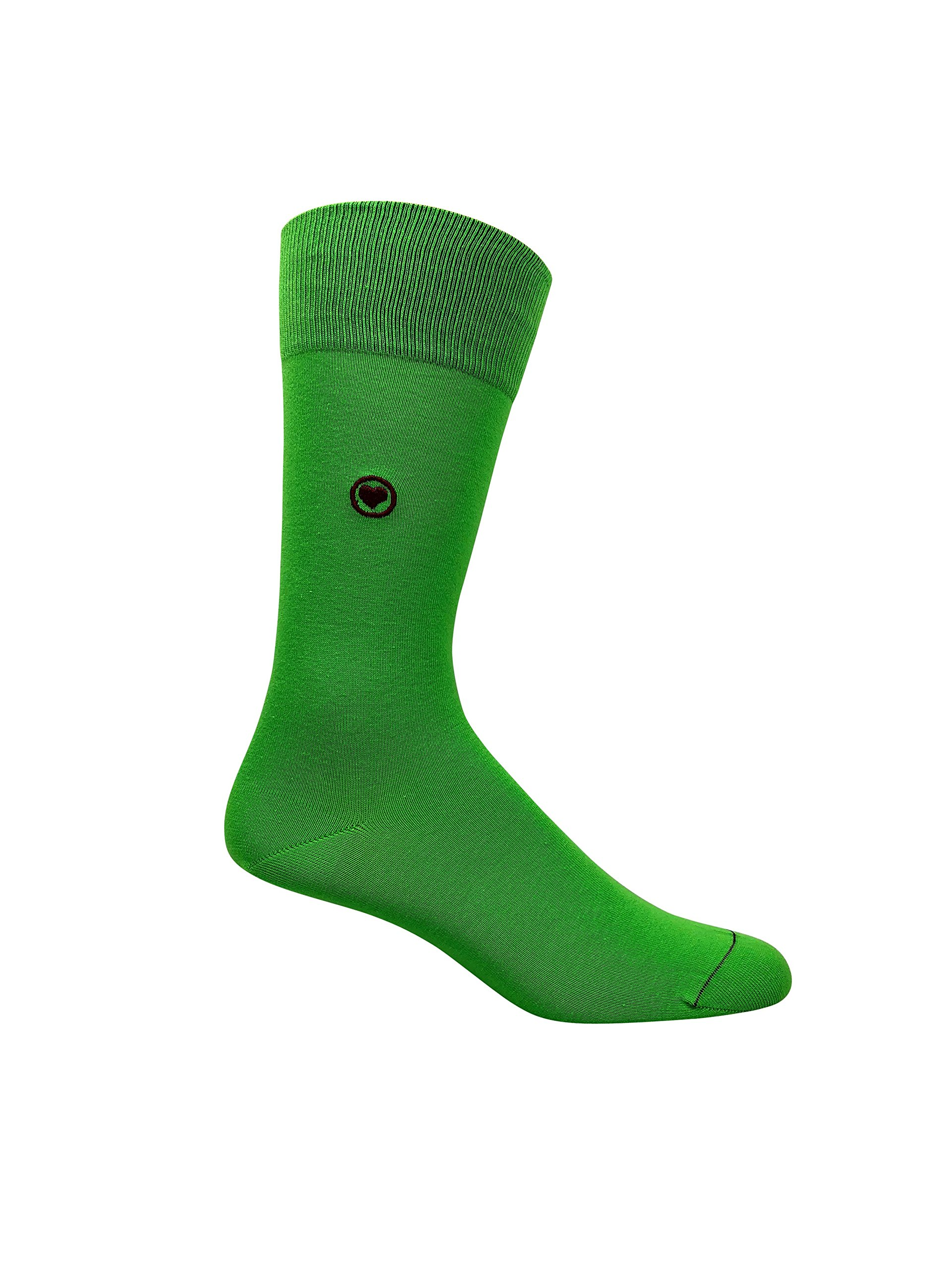 Premium Men's Green Dress Socks. 98% Organic cotton. Highly breathable with seamless toes