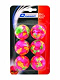 Donic Schildkrot Unisex Child Multicolour Popps 6-piece Table Tennis Ball - Multicoloured, Medium