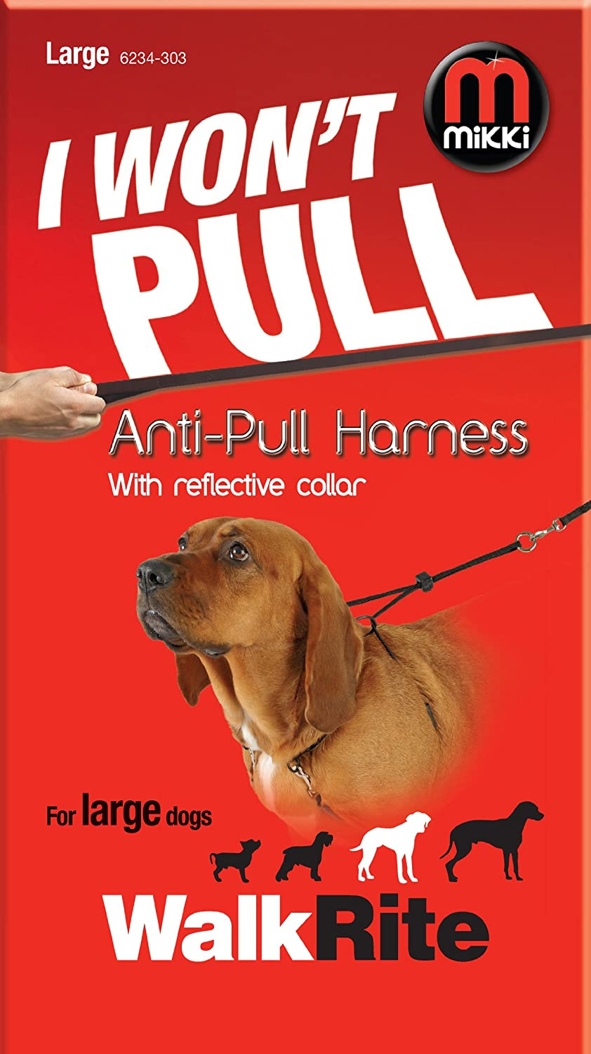 Mikki Training Anti-Pull Harness with Reflective Collar Large