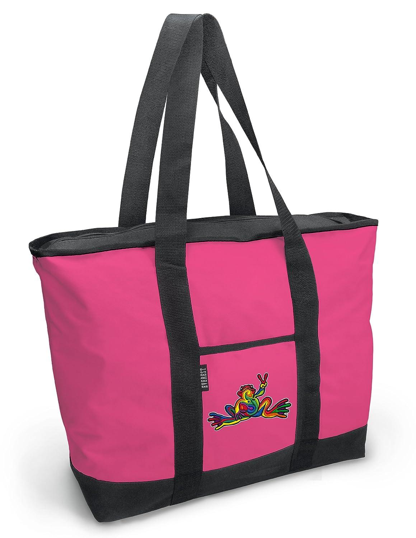 8afaf1ed4efa Amazon.com: Cute Peace Frogs Tote Bag Peace Frog Totes for Women ...