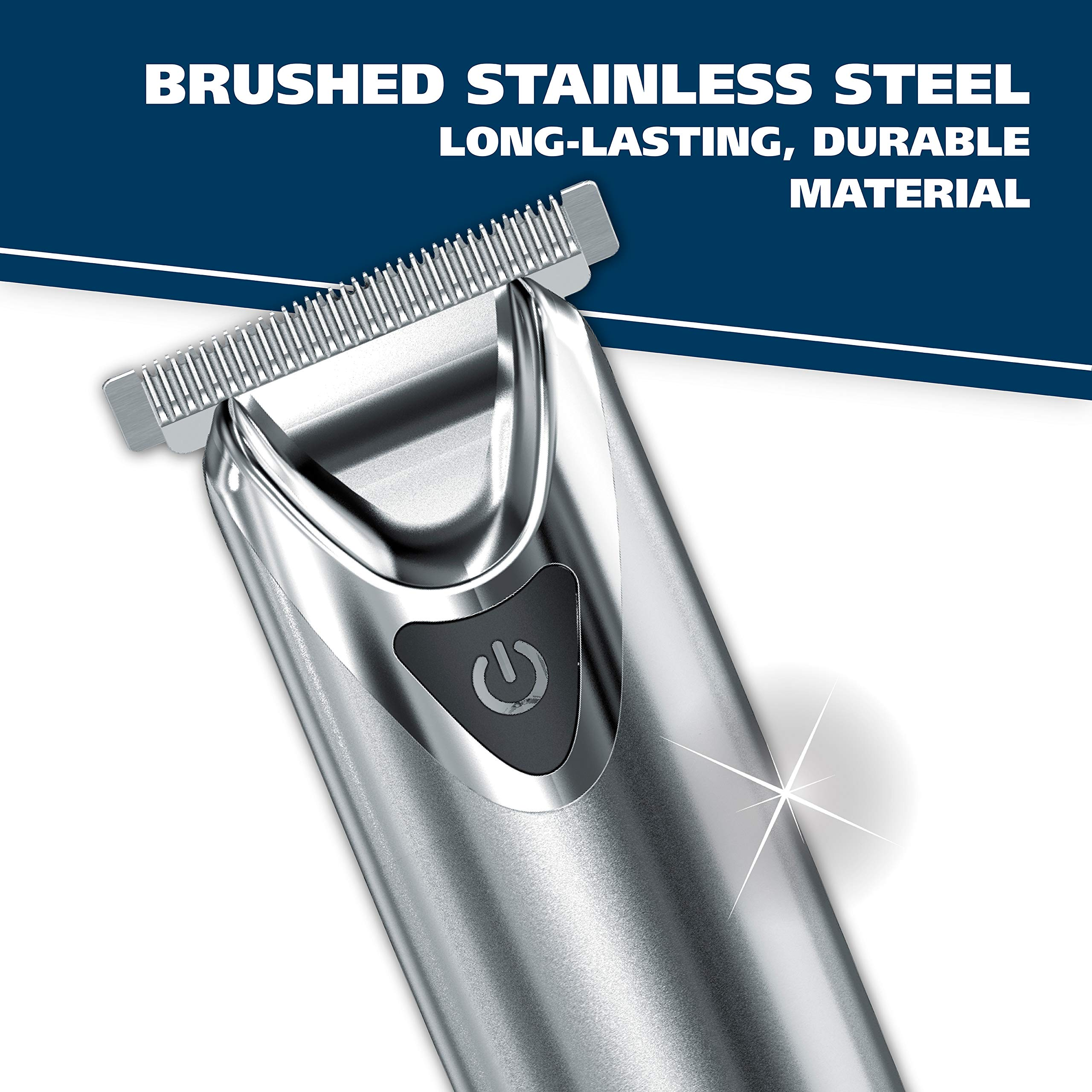 Wahl Clipper Stainless Steel Lithium Ion Plus Beard Trimmers for Men, Hair Clippers and Shavers, Nose Ear Trimmers, Rechargeable All in One Men's Grooming Kit, by the Brand used by Professionals #9818 by WAHL (Image #3)