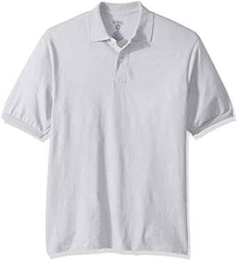 Jerzees Mens Spot Shield Short Sleeve Polo Sport Shirt, Silver ...