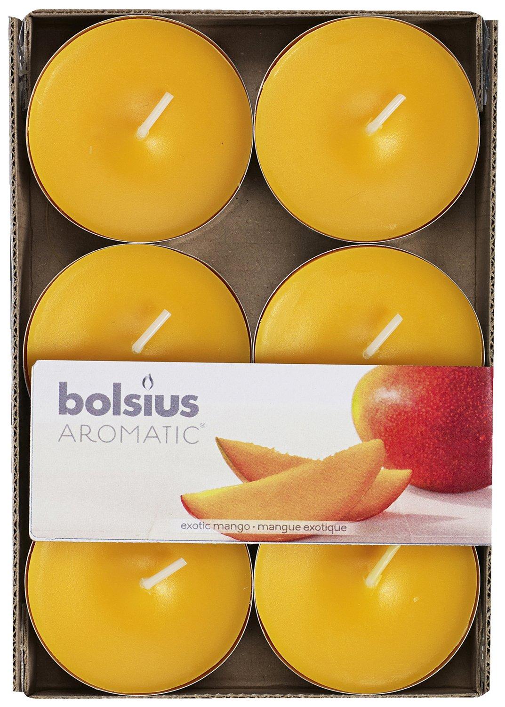 Aromatic 263.211.796.435,4cm Mango Candela profumata in Cera di paraffina, Arancione, Confezione da 6 Bolsius 103626691510