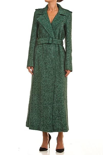 meet 4633e 90081 Twin Set Damen Mantel grün grün S: Amazon.de: Bekleidung