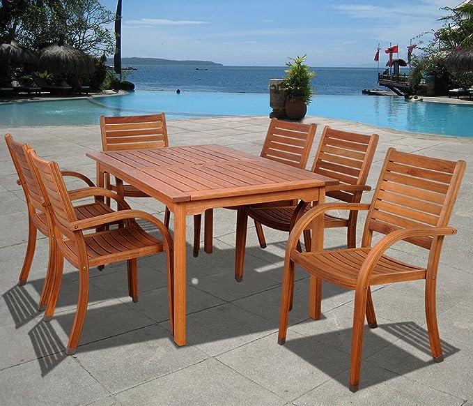 Amazon.com: Amazonia Kentucky juego de mesa y sillas ...