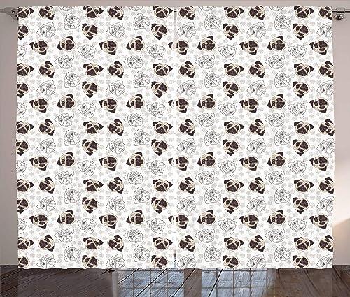 Ambesonne Dog Curtain