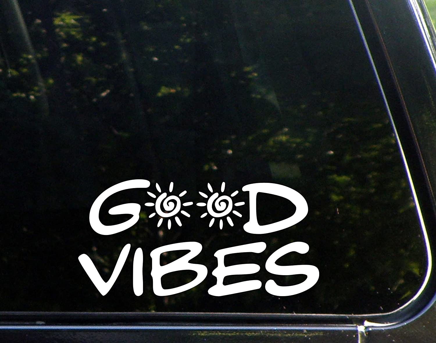 Amazoncom Good Vibes X Vinyl Die Cut Decals Bumper - Die cut window decals