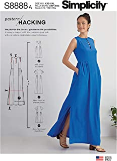 product image for Simplicity Sewing Pattern R10177 / S8888 - Misses' Design Hacking Dress, Size: A (4-6-8-10-12-14-16-18-20-22-24-26)