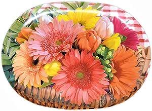 Lashuma - Bandejas de servir (melamina), diseño italiano, plástico, Cesta para flores., 30 x 21 cm: Amazon.es: Hogar