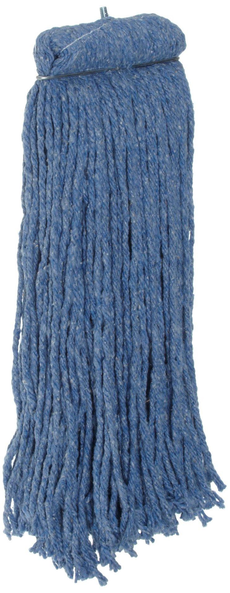 Rubbermaid Commercial Premium Bolt-On Cut-End Blend Mop, 20-Ounce Size, Blue (FGF56700BL00)
