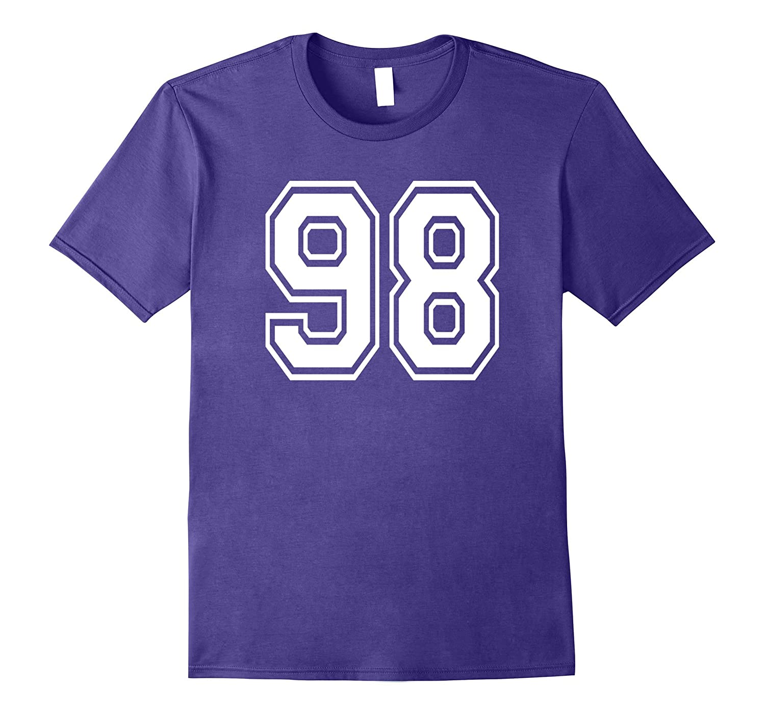 98 Sports Team School Numbers on Front T-Shirt Jersey-PL