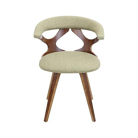 Fabulous Amazon Com Mid Century Modern Wood Upholstered Curved Back Machost Co Dining Chair Design Ideas Machostcouk