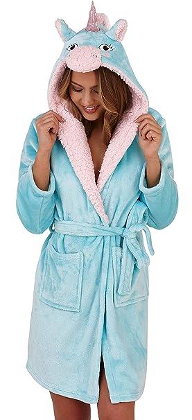 Dannii Matthews - Bata - para Mujer Aqua/Pink Unicorn Robe S (36/