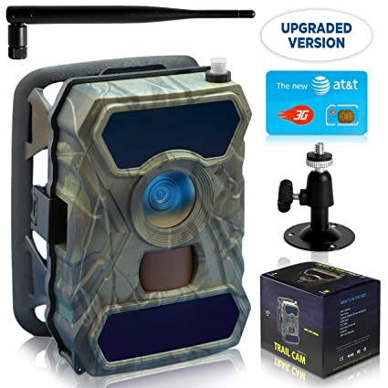 CreativeXP 3G Cellular Trail Cameras | AT&T WiFi Full HD Wild Game Camera  with Night Vision for Deer Hunting, Security | Wireless Waterproof and