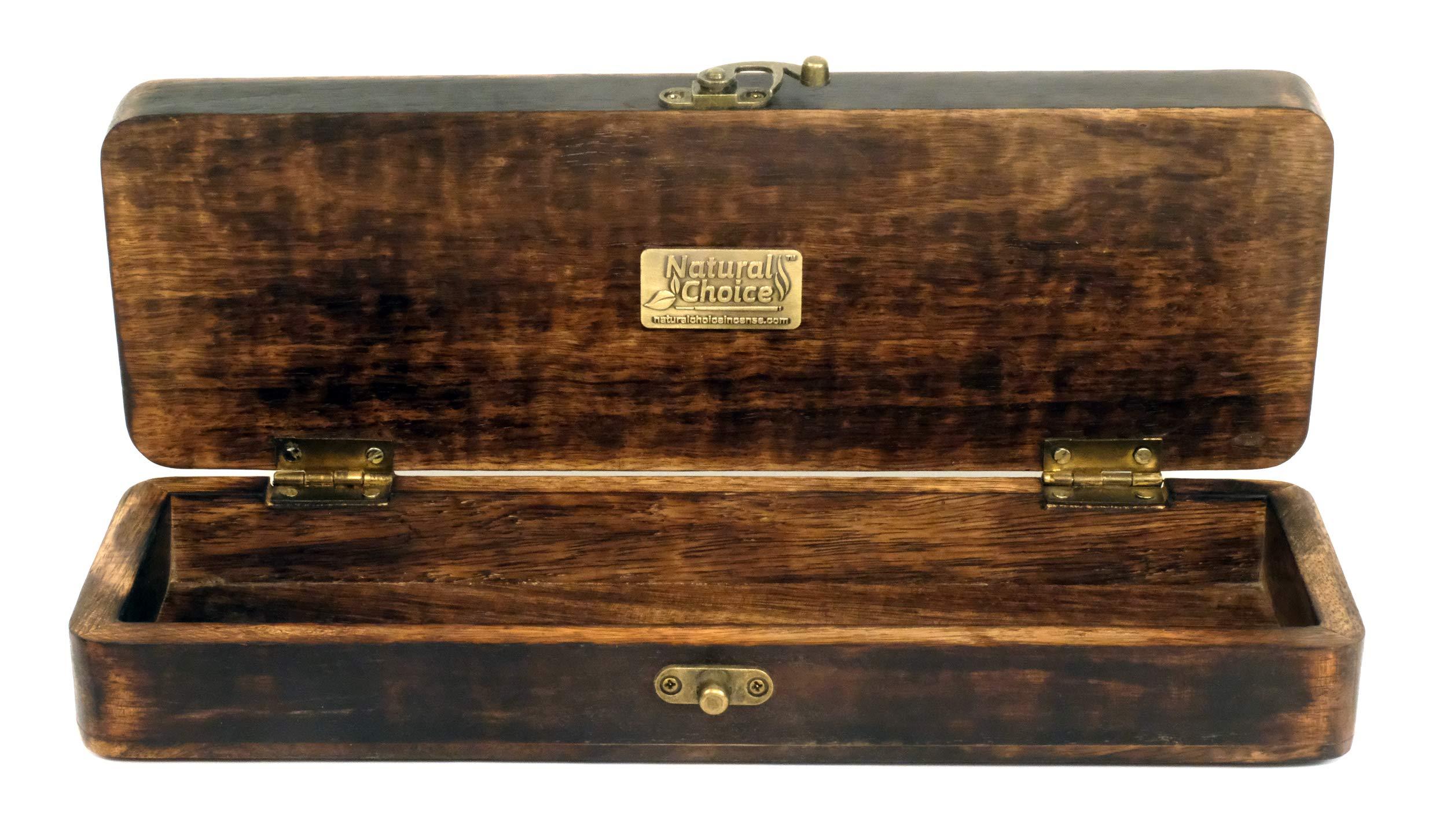 Natural Choice Incense Treasure Chest Incense Storage Box & Ash Catcher (Natural) by Natural Choice Incense (Image #7)