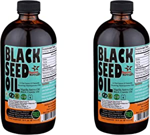 2 Pack - Mild Black Seed Oil Liquid 2.26% Thymoquinone Cold-Pressed Black Cumin Seed Oil from Pure Nigella Sativa - First Pressing Blackseed Oil for Immune Support 16 Oz Glass Bottle Sweet Sunnah