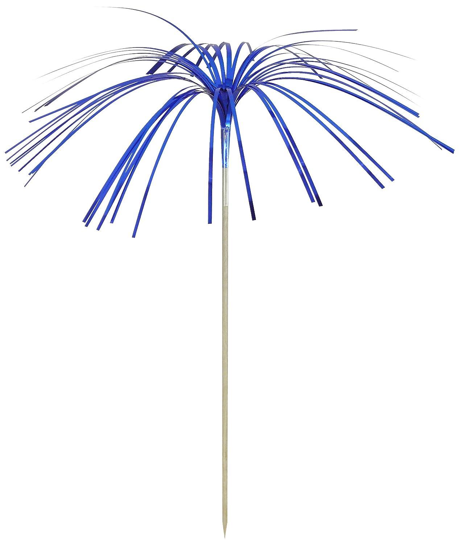Fackelmann 50360 9 100 pieces of foil//birchGastro Party line Fireworks Picks Set Silver