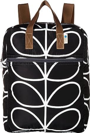 cc7d4aeb02 Orla Kiely Womens Linear Stem Packaway Backpack Backpack Multicolour  (Black Cream)