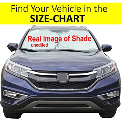 Car Front Window Sunshade Size-Chart for Cars Suv Trucks Minivans Reflector Keeps Your Vehicle Cool Heat Shield XL: Automotive