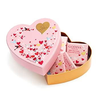 Amazon.com : Godiva Chocolatier Valentine\'s Day Mini Heart Gift ...