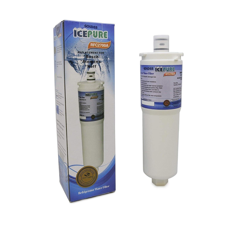 Filtro de agua de refrigerador Icepure RFC2700 Compatible con ...